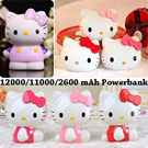 ★Hello Kitty★ 12000/11000/2600 mAh Power Bank Cute Powerbank Portable Charger for iphone 6 Plus Galaxy Note4 S5 S4 xiaomi Tablet CNY Gift