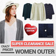 Local Factory Outlet Crazy Price !! Women Cardigan◆Knitwear◆Bottoming sweater◆Bat knitting cardigan◆