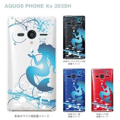 【AQUOS PHONEケース】【203SH】【Soft Bank】【カバー】【スマホケース】【クリアケース】【クリアーアーツ】【人魚姫】 08-203sh-ca0100cの画像