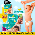 50% OFF SECOND CARTON! Pampers Baby Dry Easy Ups Swaddlers Cruisers - World No.1 Diapers! Free and Speedy Delivery! Lowest Price in SG! Maternity Kids