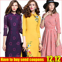 12.12 promotion High quality dress/Spring and summer elegant dress/European British style/Office dress/Cocktail dress/Party/dress/Lace/Slim/atmosphere/High-end
