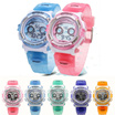 Kids Waterproof Sport Digital Stopwatch Chronograph Students Band LED Wrist Watch with Alarm Gifts