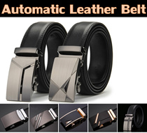 Mens Automatic Buckle Leather Belt / Cowhide Genuine Leather / Office Wear/  Belt Hole Puncher