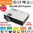 新 UC40ミニピコポータブルプロジェクター  / WVGA、HDMIプロジェクターprojetor / のビーマーの卸売 /  AV VGAのA / VのUSB SD