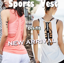 [Moving Peach] HOT Sale ! Sports vest Yoga vest tank top running wear DRI-FIT premium New arrival
