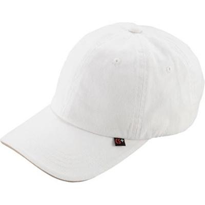 キャプテンスタッグ(CAPTAINSTAG)コットンキャップホワイトUM-2511【自転車サイクルスポーツランニング帽子】