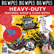 BIG WIPES - Heavy Duty / Multi - Surface / Multi - Purpose 4X4 80s Tub
