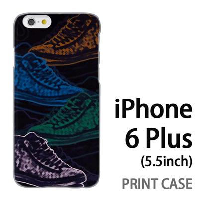 iPhone6 Plus (5.5インチ) 用『No1 S スニーカースケッチ調』特殊印刷ケース【 iphone6 plus iphone アイフォン アイフォン6 プラス au docomo softbank Apple ケース プリント カバー スマホケース スマホカバー 】の画像