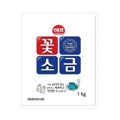 『ヘピョ』花塩|食塩(1kg)[しお][天日塩][韓国調味料][韓国食材][韓国料理][韓国食品]の画像