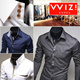 [WIZI] SLIM FIT DRESS SHIRTS ■■■ SOLID / CHECK / PATTERN / LONG SLEEVES / causal.