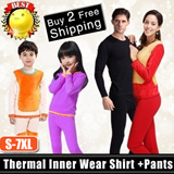【2015】【Lowest Price Guarantee】 Winter Thermal Inner Wear(Thick)0 to -20 degree celsius/Couple Warm Clothing Innerwear Unisex Underw PLUS SIZE XL-6XL