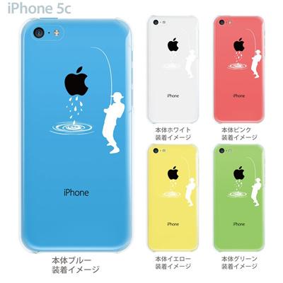 【iPhone5c ケース】【iPhone5c カバー】【スマホケース】【クリア】【クリアケース】【イラスト】【クリアーアーツ】【釣り】 06-ip5cp-ca0016の画像