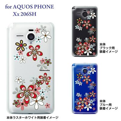 【AQUOS PHONE Xx 206SH】【206sh】【Soft Bank】【カバー】【ケース】【スマホケース】【クリアケース】【Vuodenaika】【フラワー】 21-206sh-ne0045の画像