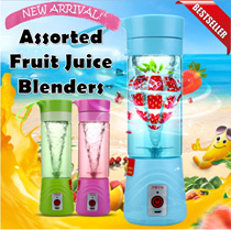 [2016 NEWEST] RECHARGEABLE HAND HELD PORTABLE BLENDER ★ Assorted Fruit Juice Blender ★ 3rd Generation Shake n Take Smoothie Maker ★ Tornado Fruits Mixer ★ Easy to use ★ SHAKE N TAKE 3 ★JIJI★