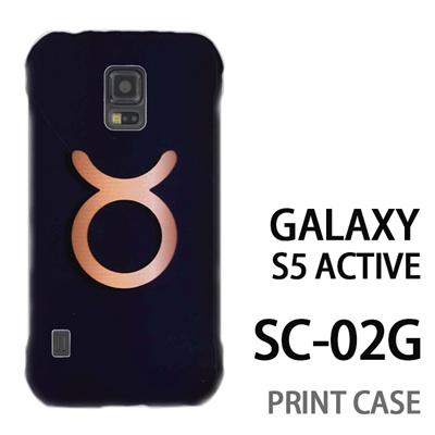 GALAXY S5 Active SC-02G 用『0720 星座おうし座マーク』特殊印刷ケース【 galaxy s5 active SC-02G sc02g SC02G galaxys5 ギャラクシー ギャラクシーs5 アクティブ docomo ケース プリント カバー スマホケース スマホカバー】の画像