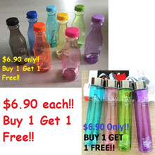 Slim Sleek and Portable Water bottle/ Cola-style BPA free water bottle / buy 1 for 1 free /6 - 8 colours available