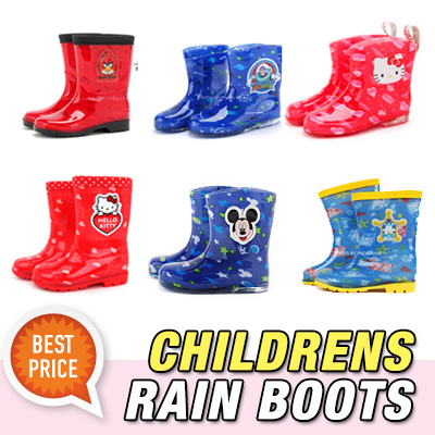 ★Childrens Rain Boots★ Kids Character RainBoots hello kitty mickey toystory angry birdsの画像