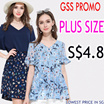 one day S$4.8 BIG PROMO Q EXPRESS  PLUS SIZE collection high quality dress/tops/blouse/shorts