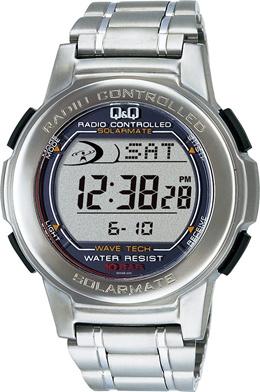 [シチズン キューアンドキュー]CITIZEN QQ 腕時計 SOLARMATE (ソーラーメイト) 電波ソーラー デジタル表示 クロノグラフ 10気圧防水 シルバー MHS5-200 メンズ