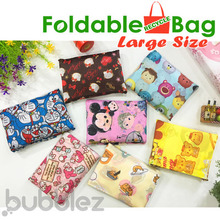 READY STOCK !!! 🌟 FOLDABLE RECYCLE BAG [LARGE SIZE] 🌟 TOTE / ECO / SHOPPING / TRAVEL【SG SELLER】