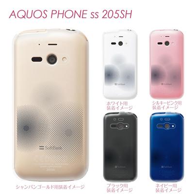 【AQUOS PHONE ss 205SH】【205sh】【Soft Bank】【カバー】【ケース】【スマホケース】【クリアケース】【チェック・ボーダー・ドット】【トランスペアレンツ】【ドット】 06-205sh-ca0021nの画像