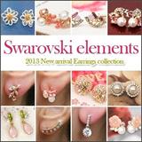 Limited 200![ferryberry]earring/pierce Korean fashion♥drama fashion Swarovski elements ♥/ 10Pieces with 1 Shipping Charge!!