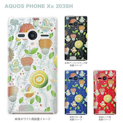 【AQUOS PHONEケース】【203SH】【Soft Bank】【カバー】【スマホケース】【クリアケース】【Vuodenaika】【フラワー】 21-203sh-ne0015caの画像