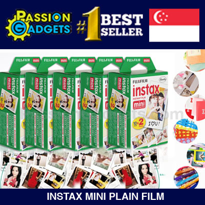 [Free Gift]? 20/40/50/60/80/100sheets Instax Mini Plain Films Polaroid Mini 90 8 7s 25 90 50s Deals for only S$59.9 instead of S$0