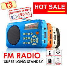 Mini Radio * FM Radio * T3 W505 * Portable Radio Player with SD Card Slot|