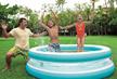 送料無料 ビニールプール INTEX (インテックス) 家庭用プール 203cm 57489 (プール 子供用プール 家庭用 プール ファミリープール 子供用 プール シースルーラウンド ファミリープ