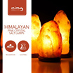 [CHEAPEST IN QOO10] Himalayan Pink Crystal Salt Lamps Free 400g  salt | BEST Natural Air Ionizer | Reduce Indoor Air Pollutants and Electro-Smog light