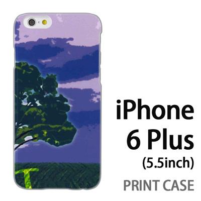 iPhone6 Plus (5.5インチ) 用『No1 T 草原の一本の木』特殊印刷ケース【 iphone6 plus iphone アイフォン アイフォン6 プラス au docomo softbank Apple ケース プリント カバー スマホケース スマホカバー 】の画像