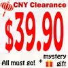 CNY Clearance Sale!! All must go! Bonus: get mystery gift with your purchase!