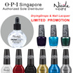 (LIMITED SUPER PROMOTION) OPI SINGAPORE SOLE DISTRIBUTOR - OPI Nail lacquer and  Nicole By OPI - DryingDrops