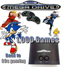 Sega Genesis Mega Drive with 1000 Games * Limited Streets of Rage Edition* Authentic Licensed SEGA MegaDrive Gaming Console With Wireless Remote Controller /Joystick Options