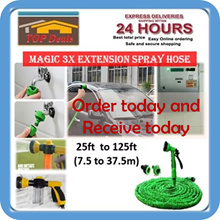 [Magic Hose] 3x Length Extension Stretchable water hose with spray nozzle gun