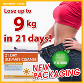 [UC21] AWARD WINNING ANTIOXIDANT DETOX PROGRAM [LOSE UP TO 9KG] PROVEN RESULTS! NatroSlim 21 Day Ultimate Cleanse. Amazing testimonials! Safe for Vegetarians