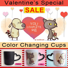 Valentine Special: Limited Edition Customize Color Changing Cups A Special Gift For Your Love