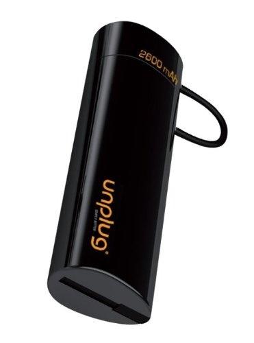 【クリックで詳細表示】Unplug モバイルバッテリー 【Lightningケーブル/Micro USBケーブル一体型】 Emergency Charger 2600mAh Lightning and Micro USB Black ブラック EC2600i5