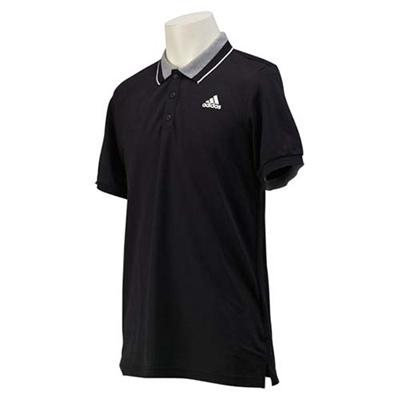 アディダス(adidas) M ESS CR ポロシャツ JMJ49 S12329 BLK/WHT 【メンズ トレーニングウェア 半袖】の画像