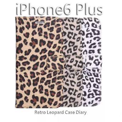 iPhone6カバーアイホン6 アイフォン6Plusケースiphone5.5ケース アイフォン ブランド iphoneカバーiPhone6用 【iPhone6 Plus ケース】横開きタイプ 豹柄 アニマル柄スタンド機能付き PU Leather Case for iPhone 6【レビューを書いてメール便送料無料】の画像