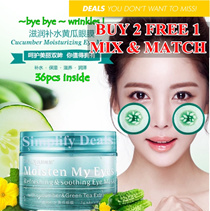 (BUY ANY 2 FREE 1) Cucumber eye mask patch/Hydrating Eye Care/Reduce eye bags/Wrinkles/Fine lines/eyes cover/facial mask/women collagen/korean/japan/ dress/bra/bag