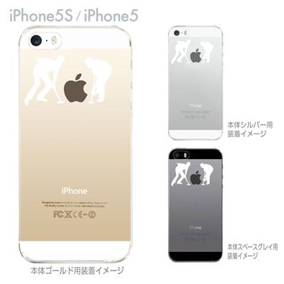 【iPhone5S】【iPhone5】【iPhone5sケース】【iPhone5ケース】【カバー】【スマホケース】【クリアケース】【クリアーアーツ】【アイスホッケー】 06-ip5s-ca0017の画像