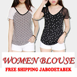 [BUY 1 GET 1] BRANDED WOMEN BLOUSE - AVAILABLE SIZE XS S M L  -ORIGINAL/AUTHENTIC - HIGH QUALITY - BLOUSE WANITA