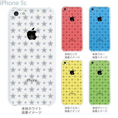 【iPhone5c】【iPhone5cケース】【iPhone5cカバー】【ケース】【カバー】【スマホケース】【クリアケース】【チェック・ボーダー・ドット】【トランスペアレンツ】【スター】 06-ip5c-ca0021dの画像