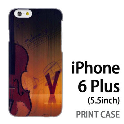 iPhone6 Plus (5.5インチ) 用『No1 V ヴァイオリン』特殊印刷ケース【 iphone6 plus iphone アイフォン アイフォン6 プラス au docomo softbank Apple ケース プリント カバー スマホケース スマホカバー 】の画像