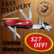 Swiss Army knife - (WENGER) Nail Clip 580. SWISS MADELimited Edition.