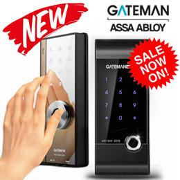 [GateMan] ★New★ Wide Mirror Digital Door Lock Aron and Bee / 4 Card Key + Password