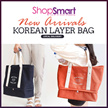 Local Delivery *New Arrival* Korean Layer Bag|Canvas Travel Cabin Tote Bag|Separated Space Travel Tote Bag