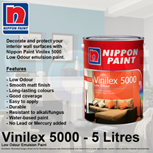 Nippon Paint Vinilex 5000 Low Odour Emulsion Paint 5 Litre